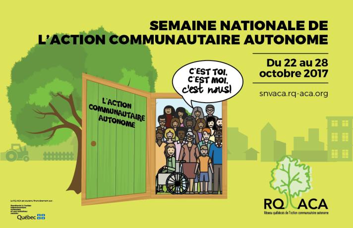 Affiche de la Semaine nationale de l'action communautaire autonome 2017