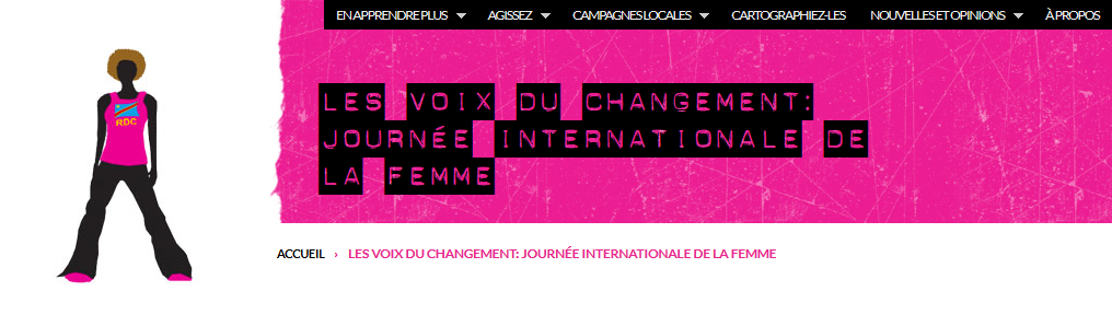 Image du site Take Back the Tech - version en FR